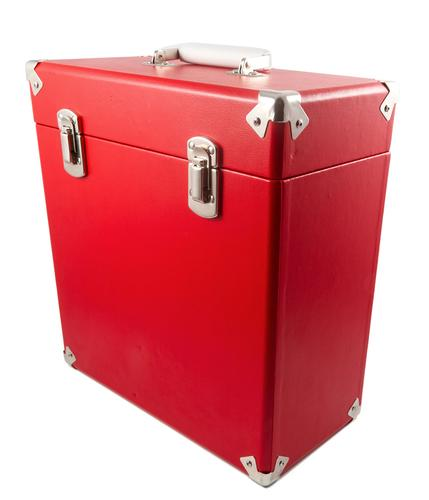 GPO Retro Vinyl Case | 60s Mod LP Record Box RED
