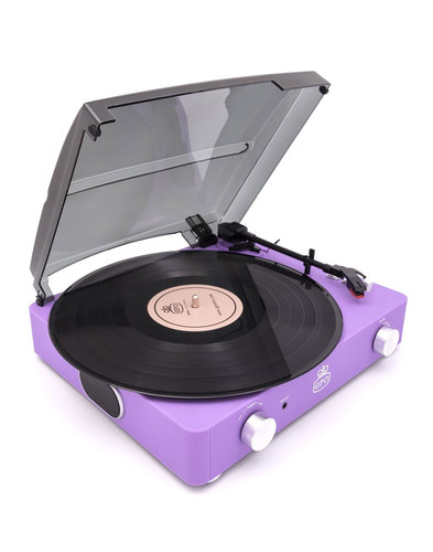 Stylo II GPO RETRO 1960s Mod Record Player - Lilac