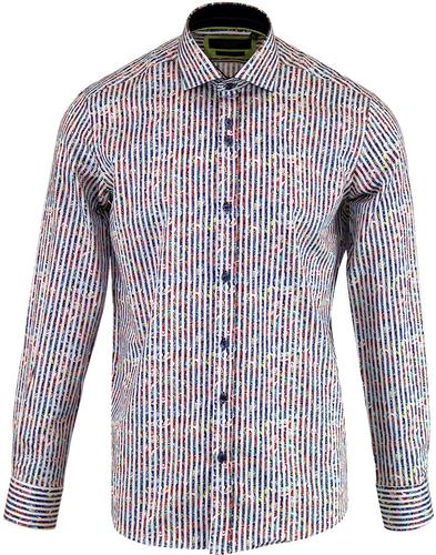 GUIDE LONDON Psychedelic 60's Paisley Stripe Shirt