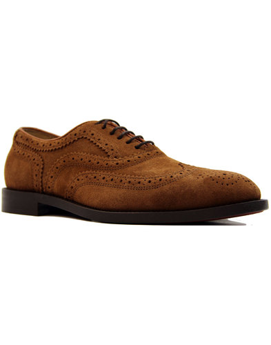 Heyford H by HUDSON 60s Mod Tan Suede Brogues