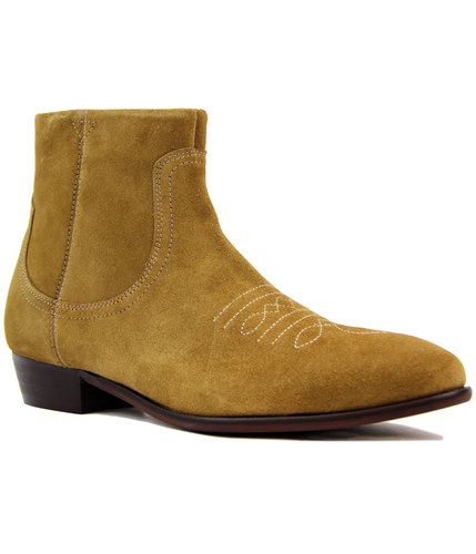 Winston H by HUDSON Retro Suede Cuban Heel Boots