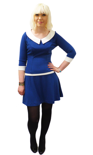 Madeline HEARTBREAKER Retro 60s Mod Haute Dress B