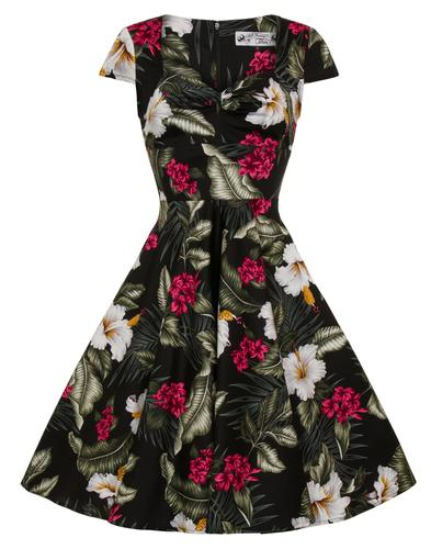 Hell Bunny Retro 50s Doll Dress Kalei Floral