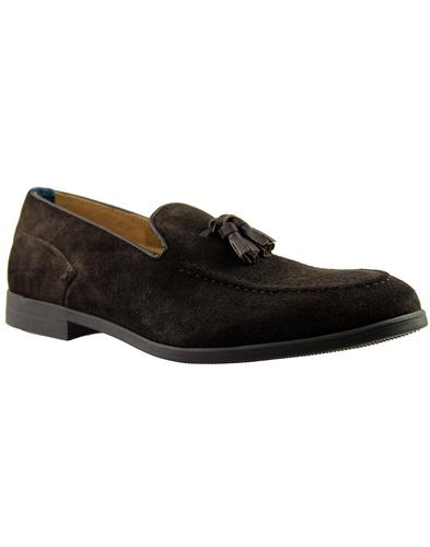 Dickson HUDSON Retro Mod Suede Tassel Loafers (Br)