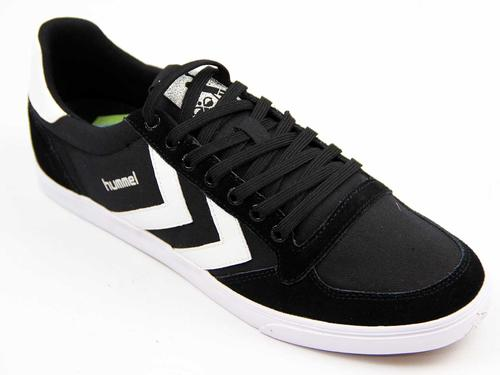 HUMMEL Slimmer Stadil Low Canvas Retro Trainers BW