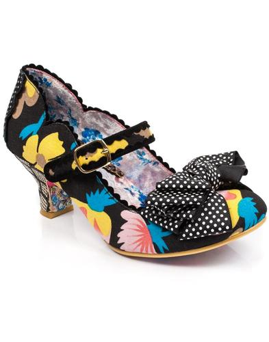 Balmy Nights IRREGULAR CHOICE Retro Shoes - Black