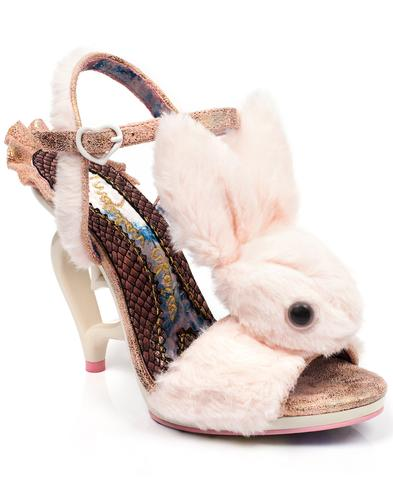 Fluffy Love IRREGULAR CHOICE Bunny Heart Heels P