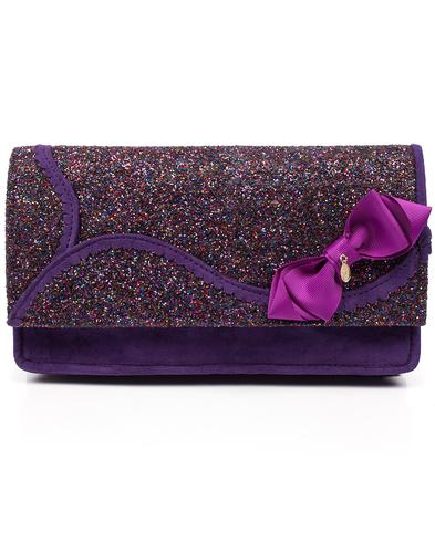 Irregular Choice Kanjanka Glitter Handbag Purple