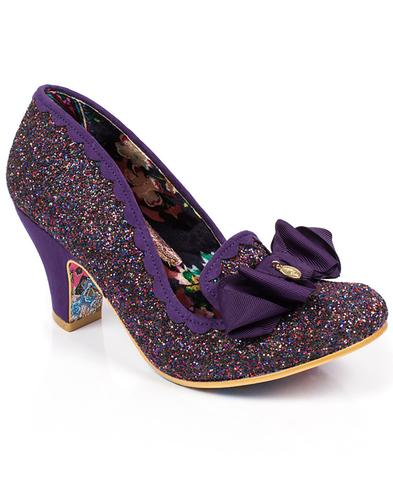 Irregular Choice Kanjanka Glitter Shoes Purple