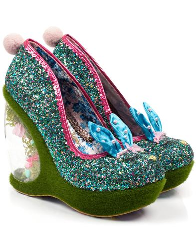 Hop To It IRREGULAR CHOICE Bunny Garden Heels Blue
