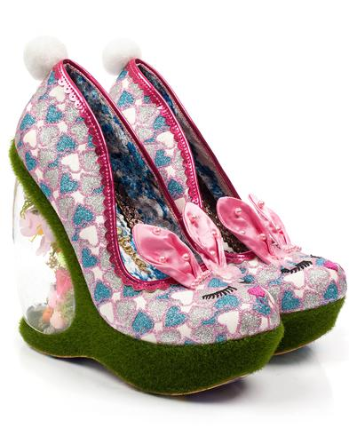 Hop To It IRREGULAR CHOICE Bunny Garden Heels Pink