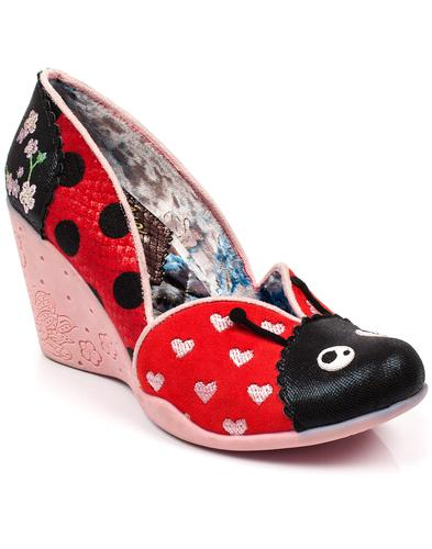 Lady Bee IRREGULAR CHOICE Retro Ladybird Wedges