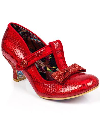 Lazy River IRREGULAR CHOICE Iridescent Heels Red