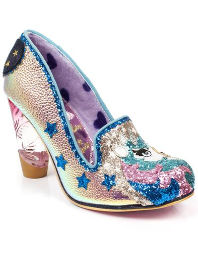 Irregular Choice Lady Misty Unicorn Heels Shoes