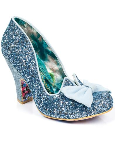 Nick of Time IRREGULAR CHOICE Blue Retro Bow Heels