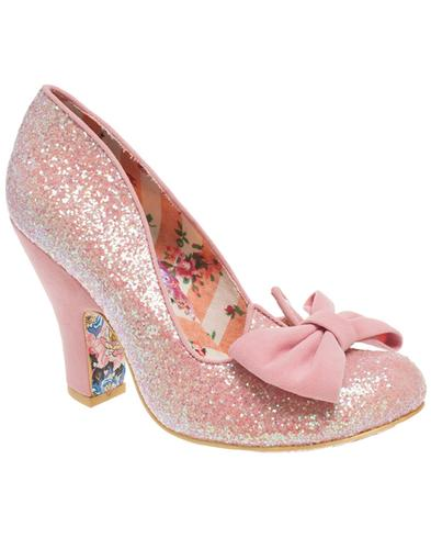 Nick of Time IRREGULAR CHOICE Retro Bow Heels Pink