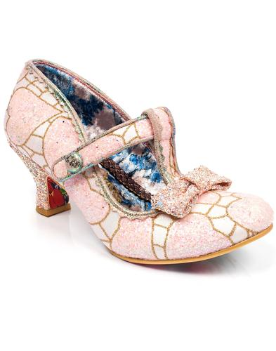 Lazy River IRREGULAR CHOICE 50s Glitter Heels PINK