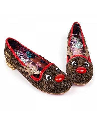 Irregular Choice Christmas Red Nose Roo Shoes