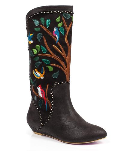 Septima IRREGULAR CHOICE Birds Calf Boots in Black