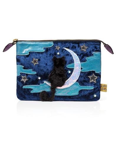 Starry Night IRREGULAR CHOICE Cat in Moon Pouch