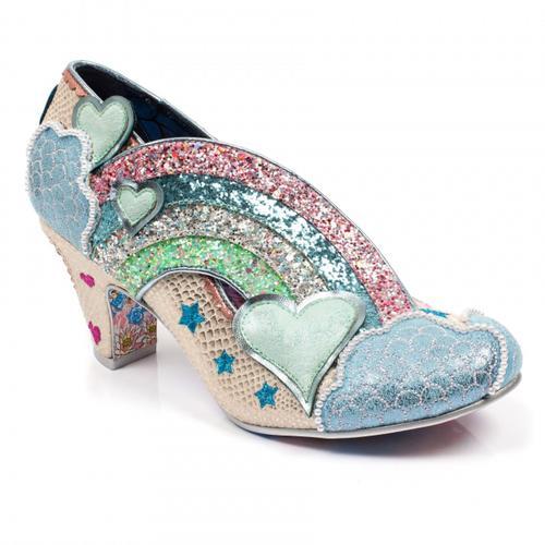 55b7d6940fe Irregular Choice Summer of Love Heels Shoes White