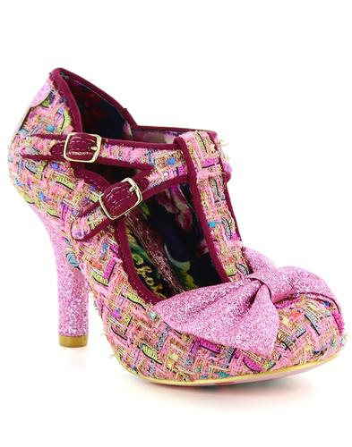 Sundae Sprinkles IRREGULAR CHOICE Tweed Heels Pink