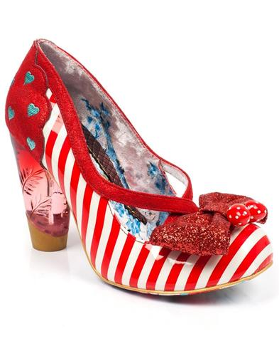 Wanderlust IRREGULAR CHOICE Mod 60s Heels - Red
