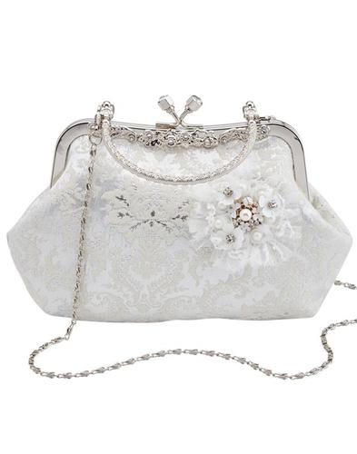 Hitched JOE BROWNS Bridal Vintage Handbag- Ivory