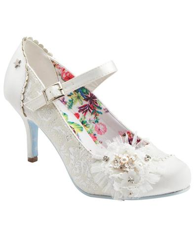 Hitched JOE BROWNS Vintage Bridal Court Shoes