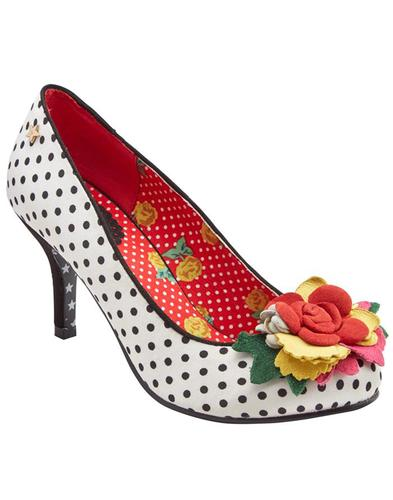 Meryl JOE BROWNS Vintage Floral Spotty Stilettos