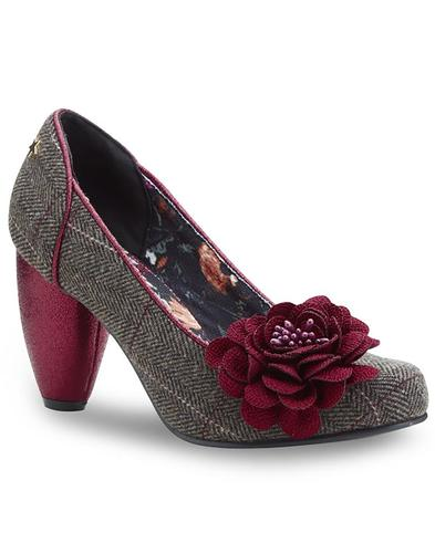 Truly JOE BROWNS Retro Vintage Tweed Heels
