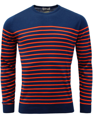 Redfree JOHN SMEDLEY Made in England Stripe Jumper