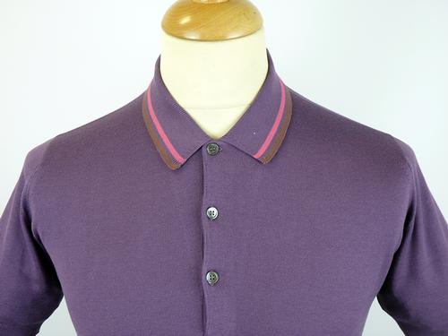 Vinny JOHN SMEDLEY Retro Sports Collar Mod Polo T