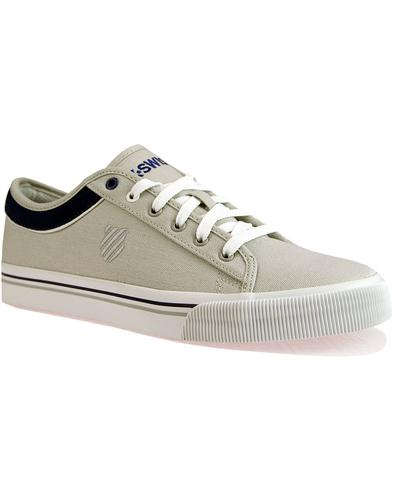 Bridgeport II K-SWISS Retro Canvas Trainers GREY