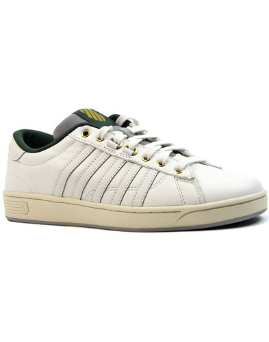 Hoke P K-SWISS Premium Leather Mens Court Trainers