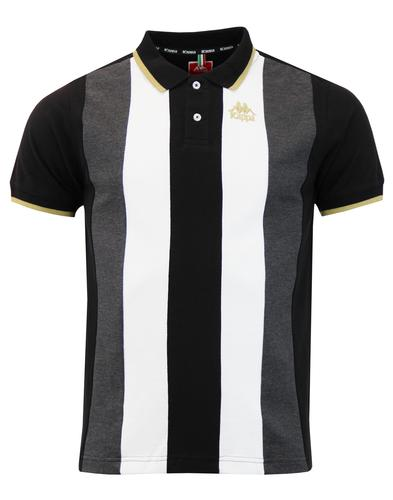 Keller KAPPA Retro Mod Stripe Panel Pique Polo Top