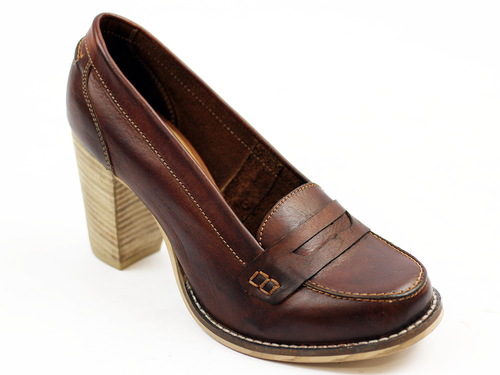 Florida Loafers LACEYS Retro 60s Heeled Loafers T