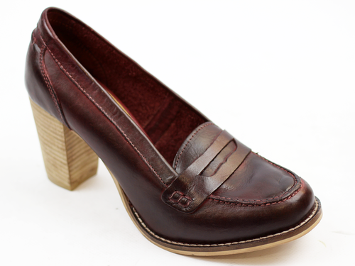 Florida Loafers LACEYS Retro 60s Heeled Loafers B