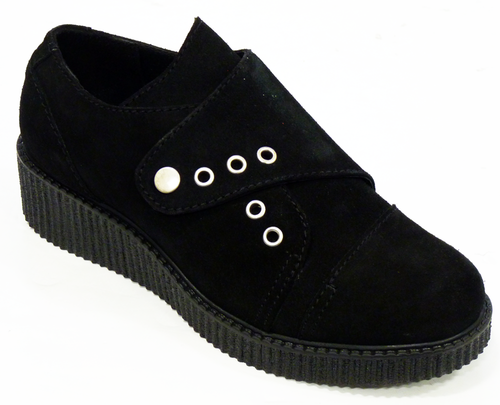 Torquay LACEYS Retro 50s Indie Suede Creepers (B)