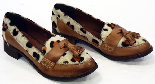 Devulge LACEYS Womens Retro 70s Tassel Loafers