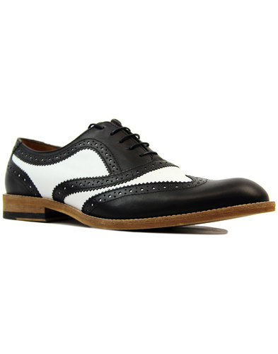 LACUZZO 1960s Mod Two Tone Oxford Brogue Shoes