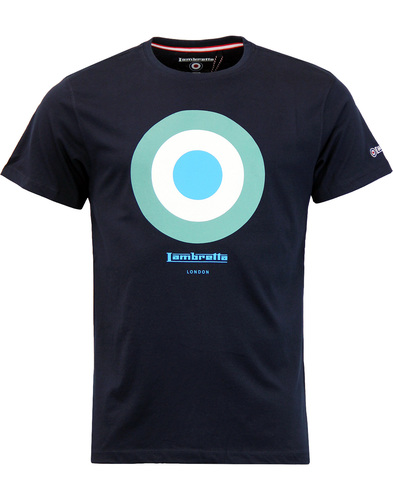 LAMBRETTA Retro Mod Target Keith Moon T-shirt NAVY