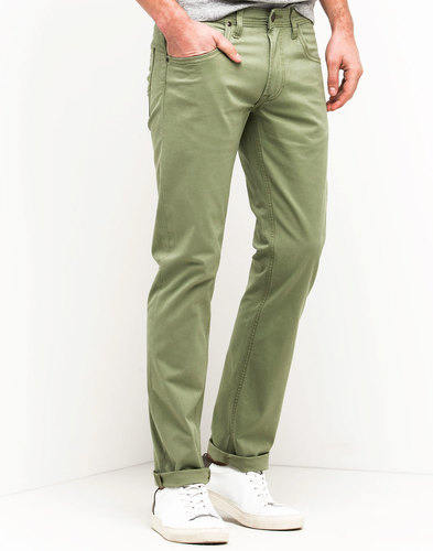 Daren LEE Retro Mod Slim Stretch Twill Chinos SAGE