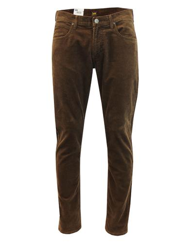 Daren LEE Men's Retro Mod Slim Cord Trousers BROWN