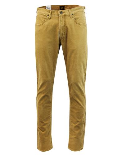 Daren LEE Men's Retro Mod Slim Cord Trousers DIJON