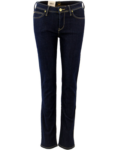 Emlyn LEE Solid Blue Straight Tapered Fit Jeans