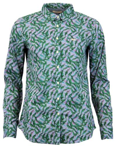 LEE Retro 70s Tropical Palm Print Chambray Shirt