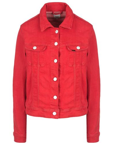 Rider LEE JEANS Womens Retro 70s Slim Jacket Red