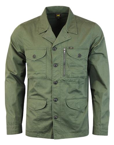 LEE Retro 70s Mod Twill Military Overshirt Jacket