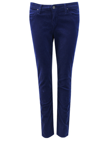 Scarlett LEE Retro Womens Cord Skinny Jeans Blue